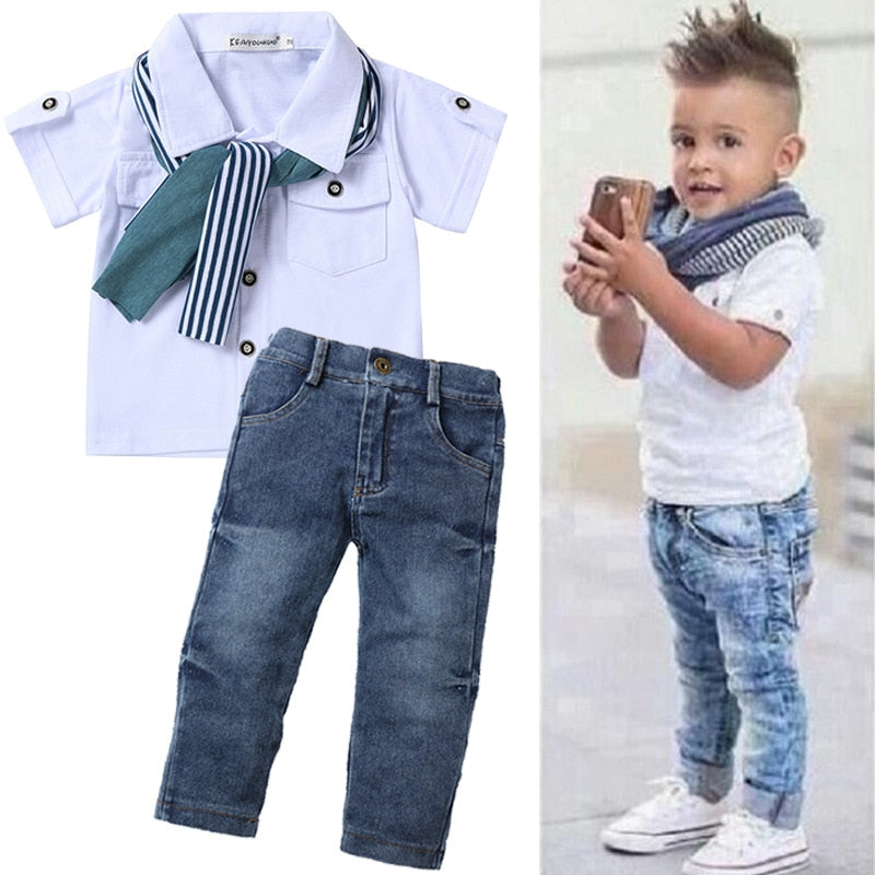 Kids Clothes Tracksuit For Boys Clothing Sets Summer Toddler Boys Clothes Outfit Children Clothing Boys Sport Suit 3 4 5 6 Year - Hypa Fashion