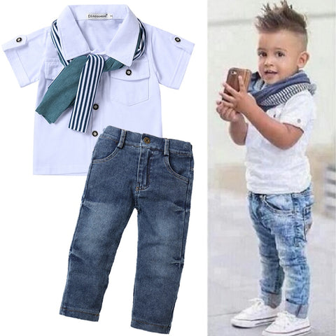 Kid Baby Boys Summer Sports Tracksuit