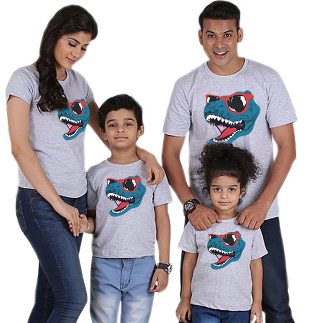 Dinosaur Cool Family Look Mother Daughter Father Son Matching Outfits