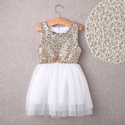 Baby Girl Summer Bow Tutu Sequin Dress