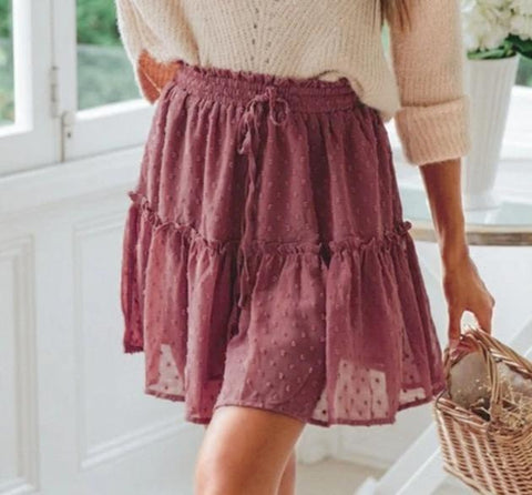 Womens High Waist Summer Skirts