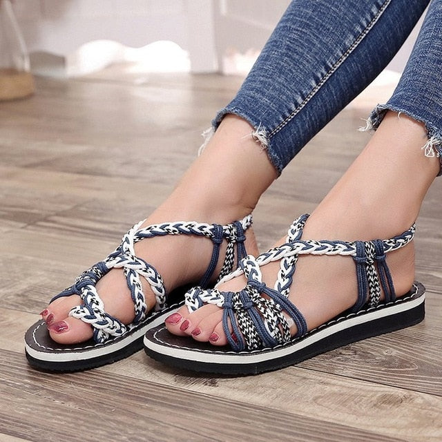 European Style Flat Soled Women Sandals - Hypa Fashion