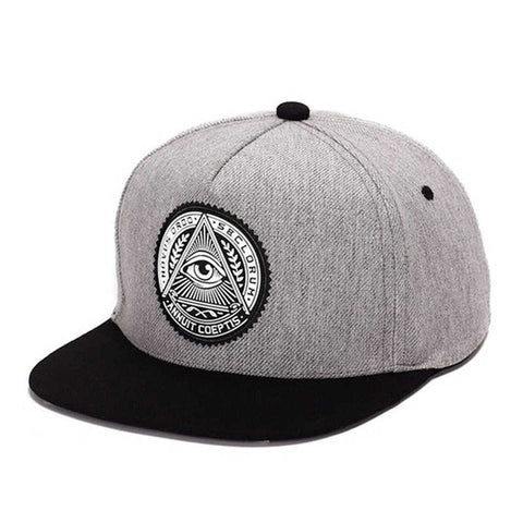 Unisex 3D God Eyes Cotton Snapback Flat Brim Baseball Cap