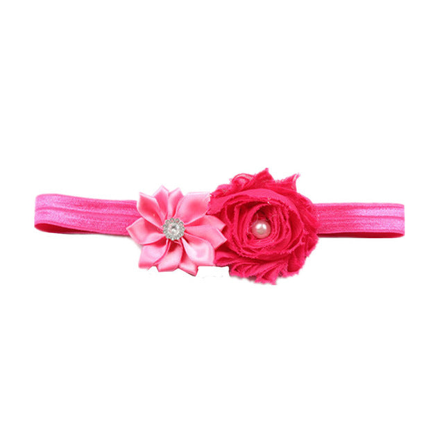 Baby Girl Kids Nylon Elastic Floral Headbands