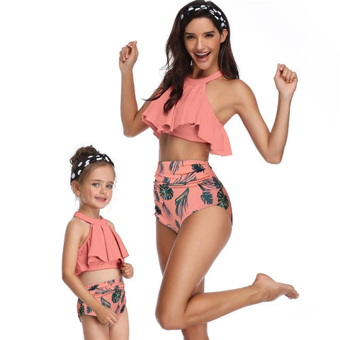 Mother Daughter Womens Kids Matching Swimsuits