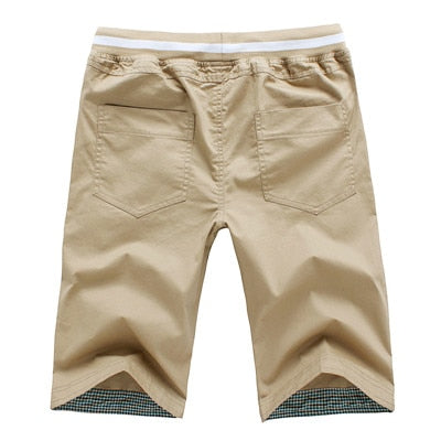 Mens Summer Casual Straight Cut Cotton Shorts