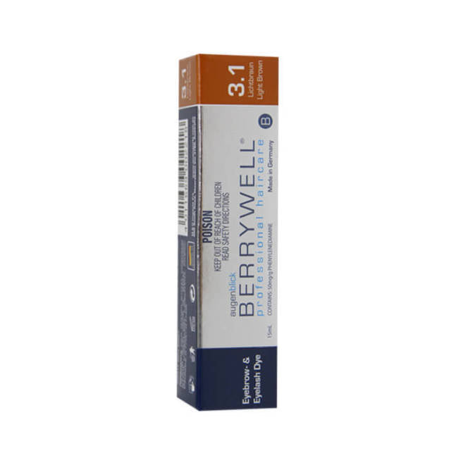 BERRYWELL | Eyebrow & Eyelash Dye 15ml Light Brown 3.1