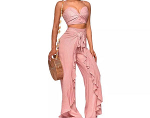 "The ""ROSE PETAL"" pant set"