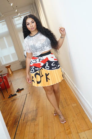 "The ""Pleated Grafitti"" Skirt"