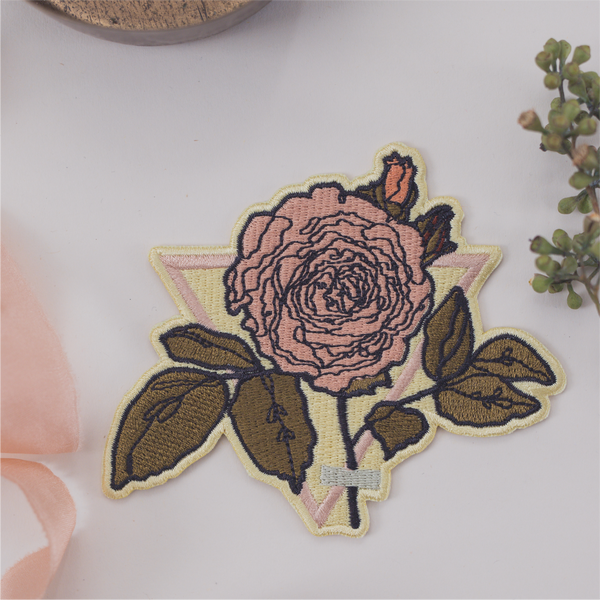 Floral Embroidered Patch - Iron On
