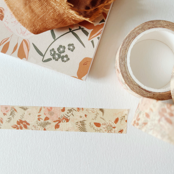 Floral Garland Washi Tape - Set of 3