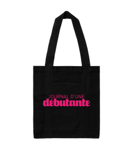 "TOTEBAG | ""JOURNAL"" - Noir/Rose"