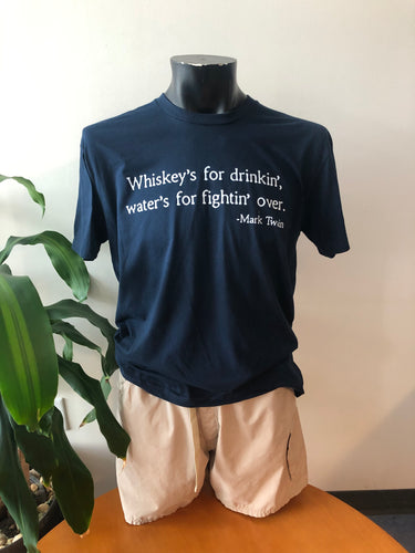 Classic Whiskey T-Shirt - Navy ($15 Suggested Donation)