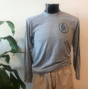 NEW! Kingfisher Logo Eco, Dri-Fit Longsleeve Shirt - Gray ($30 Suggested Donation)