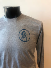 Load image into Gallery viewer, NEW! Kingfisher Logo Eco, Dri-Fit Longsleeve Shirt - Gray ($30 Suggested Donation)