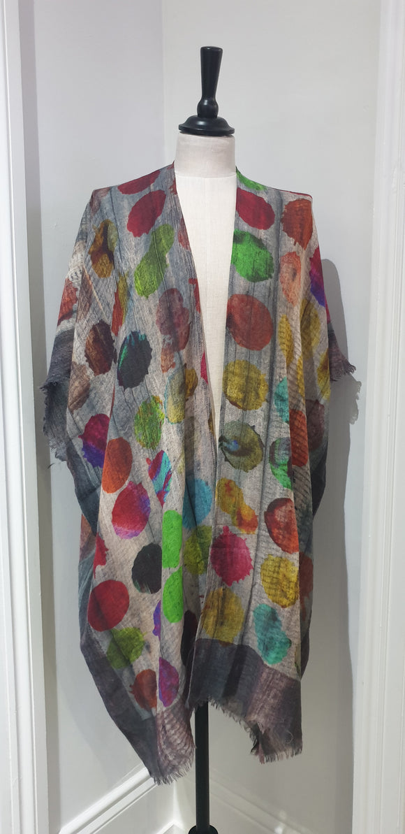 BIG DOT - WINTER KAFTAN/WRAP