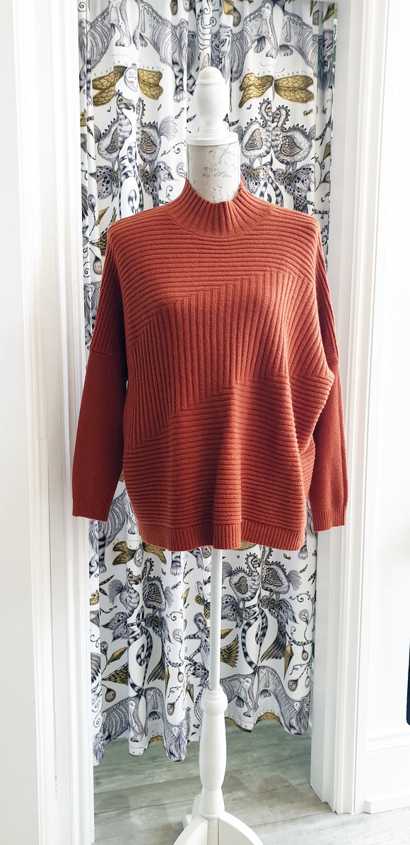 JUMPER - Ribbed Orange
