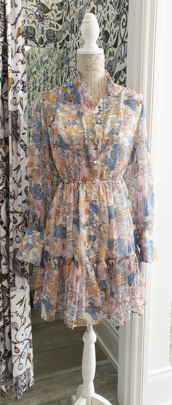 Delilah Floral Dress - Pastel