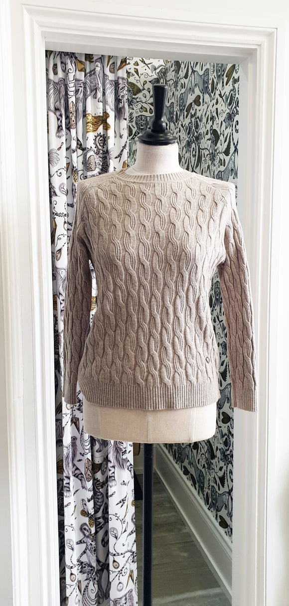 Betty Cable Jumper - Oat