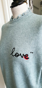"""Love"" Jumper - Jade"