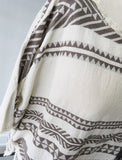 Talia Embroidered Cotton top - TAUPE