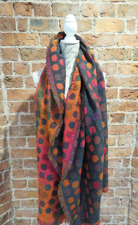 Spot Mixed Cream Scarf