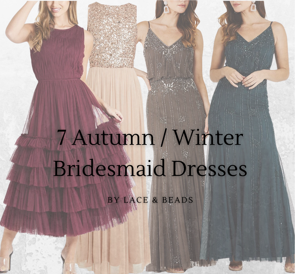 7 Autumn Winter Bridesmaid Dresses