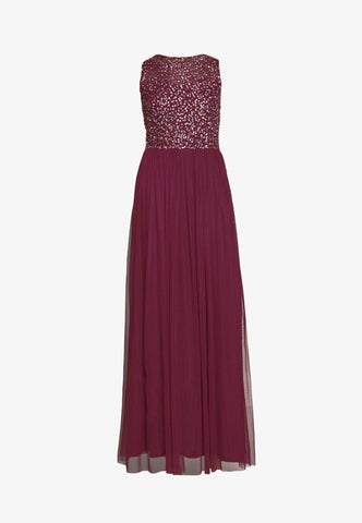Kahlo Burgundy Bridesmaid Maxi