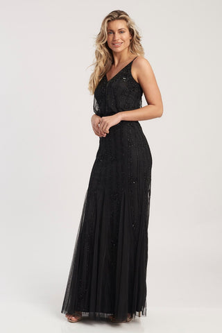 Keeva Black Bridesmaid Dress