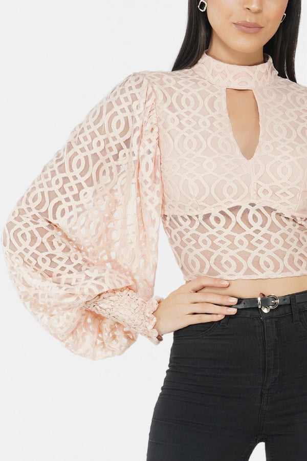 Marlee Lace Top in Nude