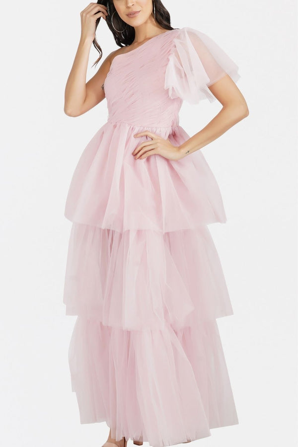 Rowena Mesh Maxi in Soft Pink