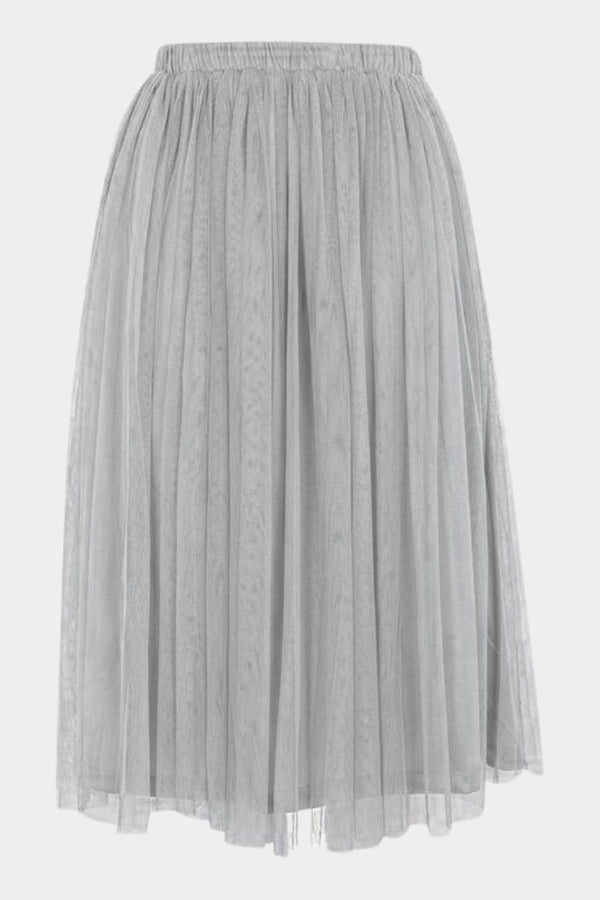 Merlin Grey Midi Skirt
