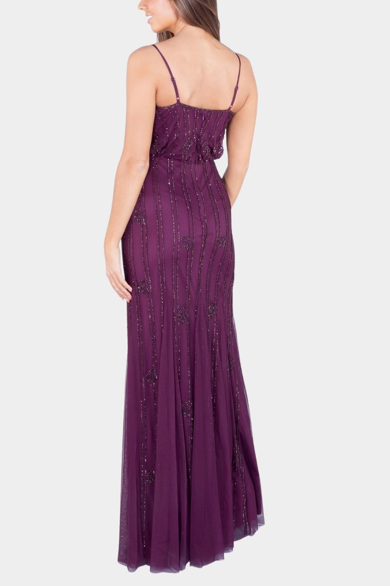 Keeva Burgundy Bridesmaid Maxi Dress
