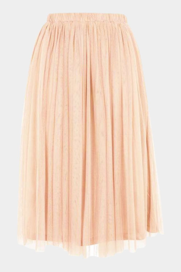 Merlin Nude Midi Skirt
