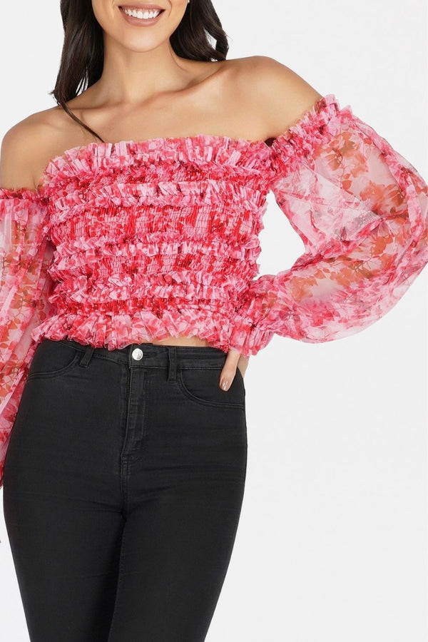 Rolf Top in Red Print