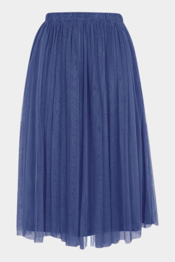 Merlin Navy Midi Skirt