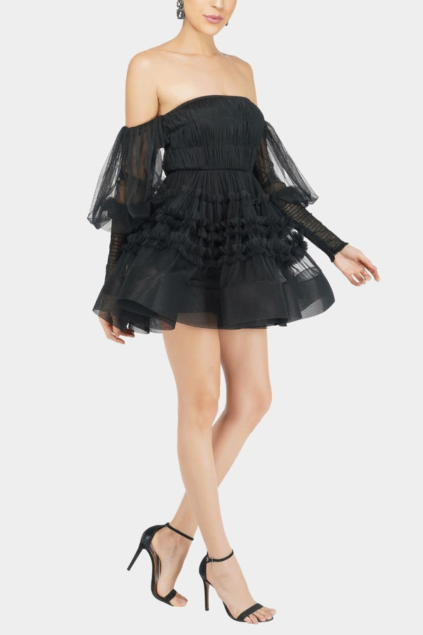 River Tulle Dress in Black