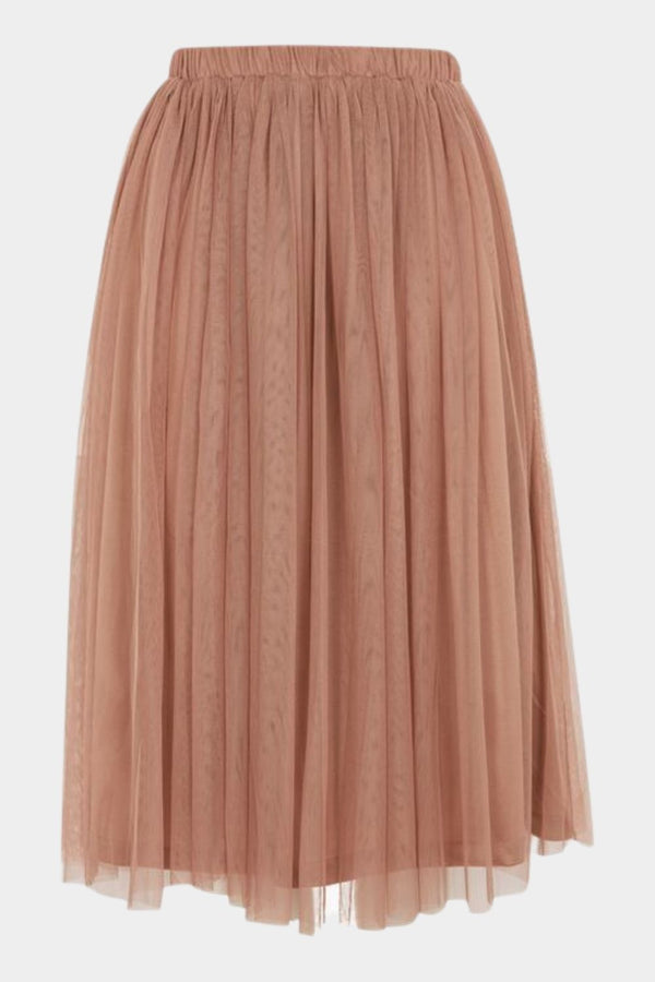 Merlin Taupe Midi Skirt