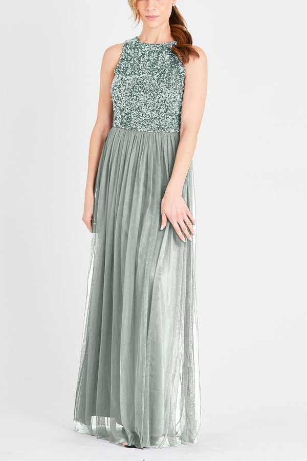 Picasso Bridesmaid Maxi in Teal