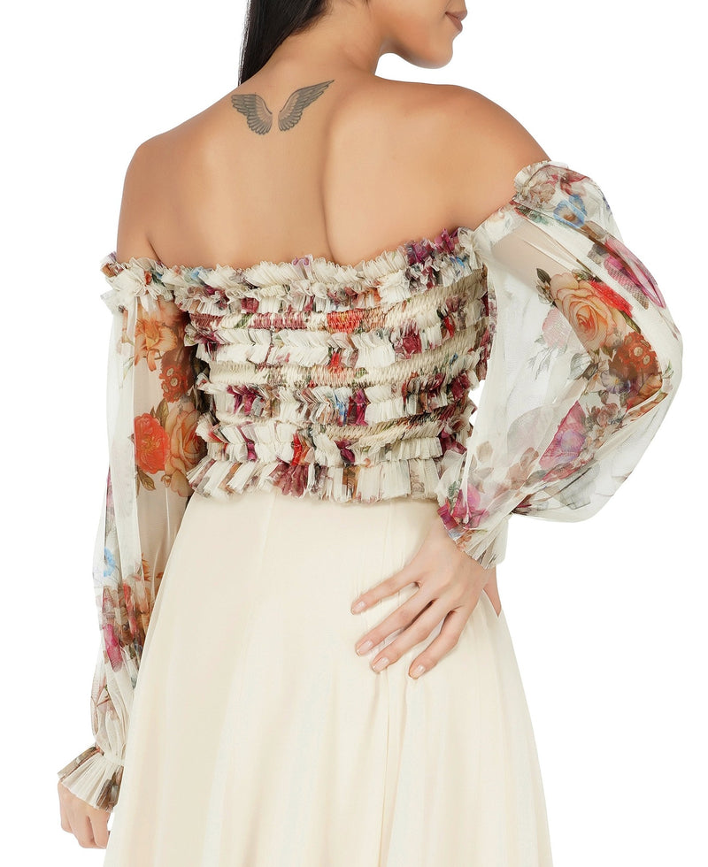 Rolf Top in Cream Floral