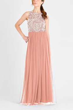 Picasso Bridesmaid Maxi in Dusty Pink
