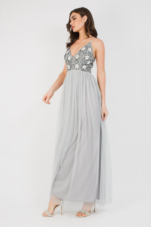 Avon Bridesmaid Maxi in Grey