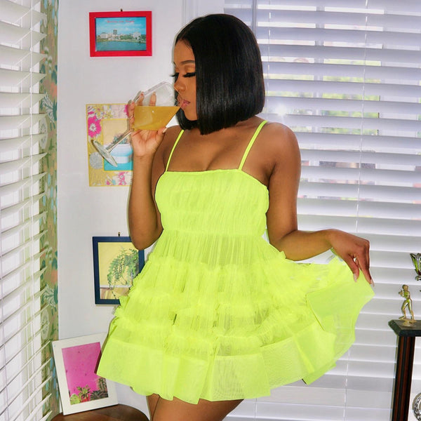 Bethan Mini in Neon Lime