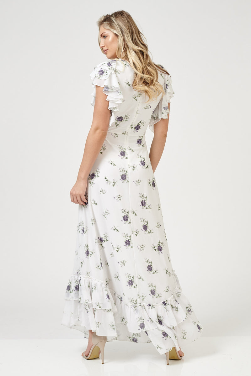 Russell White Printed Maxi Dress