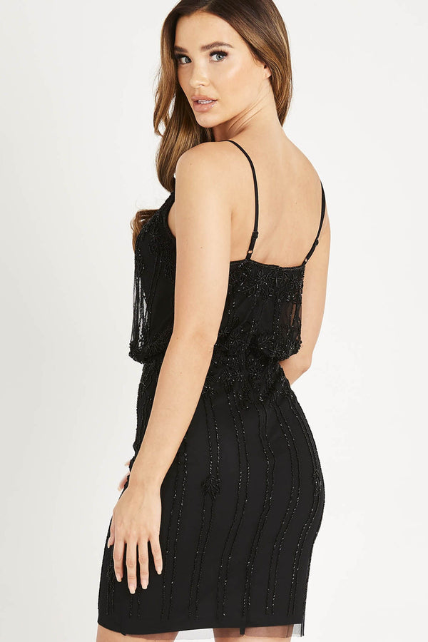 Keeva Embellished Mini in Black
