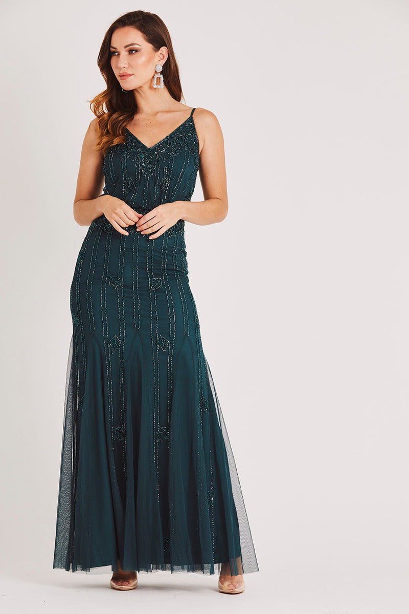 Keeva Forest Green Bridesmaid Maxi Dress