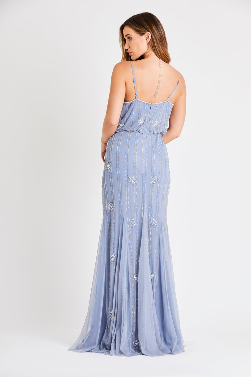 Keeva Blue Bridesmaid Maxi Dress