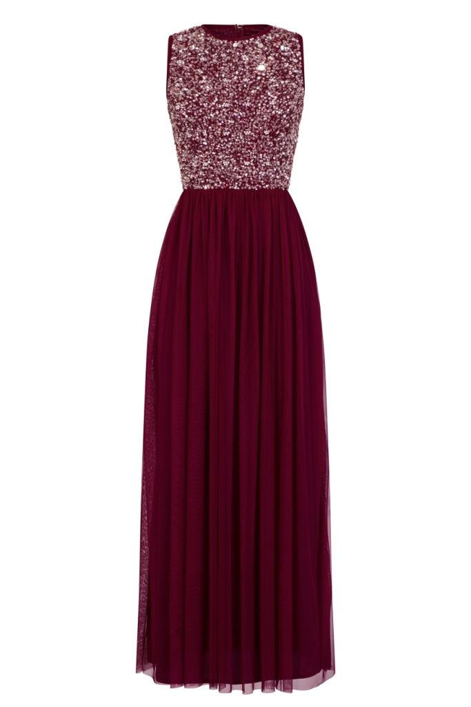 Picasso Bridesmaid Maxi in Burgundy