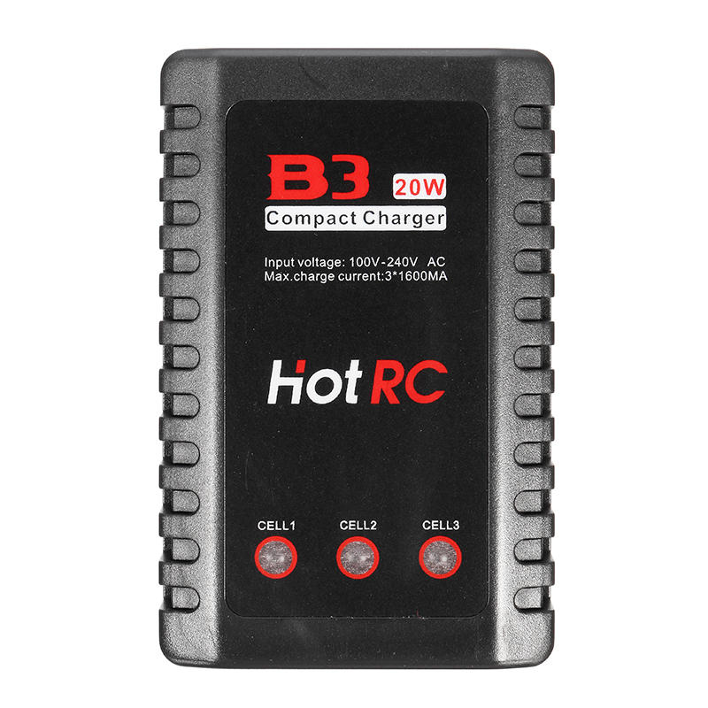 HOTRC B3 20W AC Battery Balance Charger for 2S-3S LiPo Battery