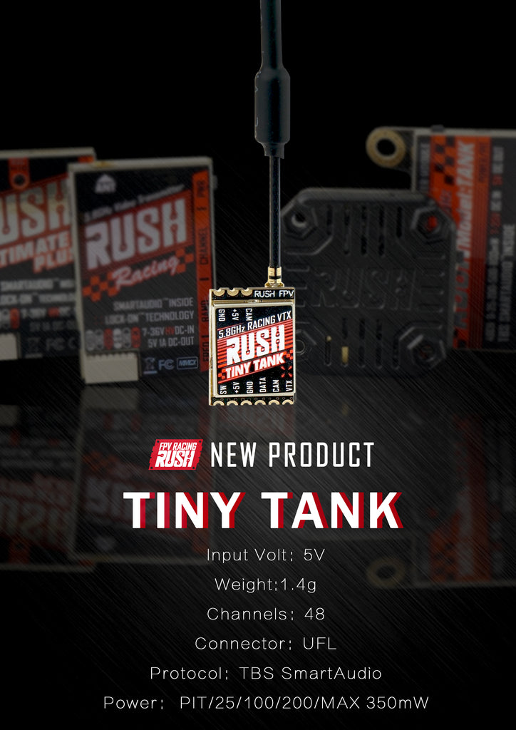 Rush Tiny Tank Racing 5.8GHz VTX with SmartAudio